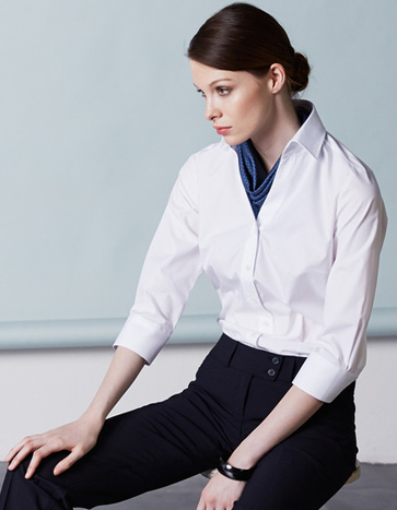 Блузка-женская-V-вырез-рукав-3-4-Regular-Fit-ST6520-Greiff-363x467-1