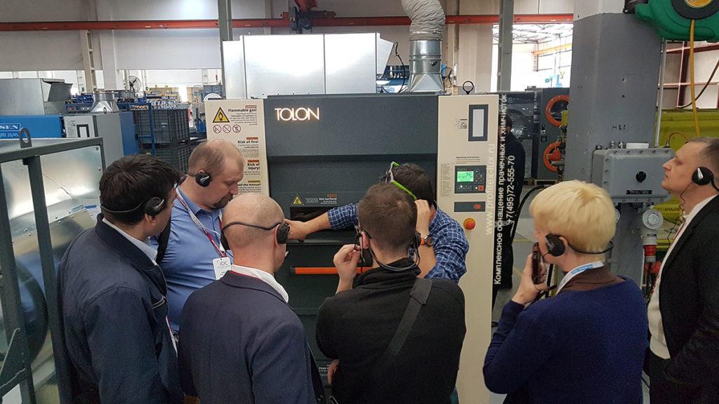 Посещение завода Tolon специалистами Profitex 1