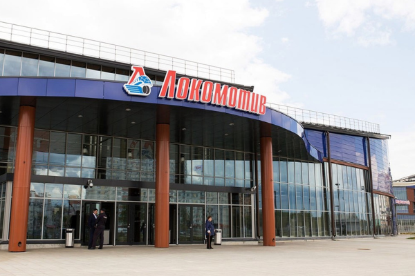 Оборудование для заведений общественного питания от Profitex. Ресторан в МФСК Локомотив, Ярославль. На фото вход в спортивный комплекс.
