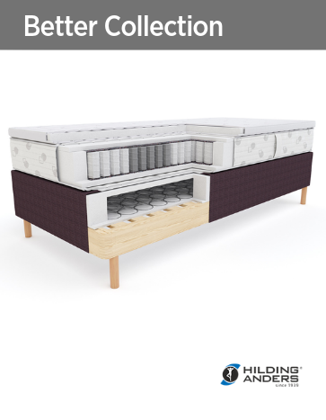Гостиничные кровати основание, матрас, топпер Better Collection Hilding Anders