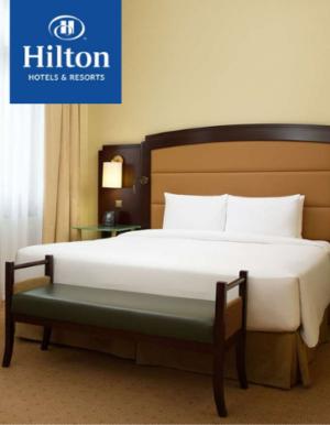 Готовое постельное белье для отелей Hilton_363x467