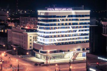 Профессиональный текстиль для отелей и гостиниц от PROFITEX. Отель Mercure Саранск Центр. На фото вход в отель.