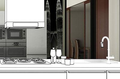 Проект профессиональной кухни в частном доме